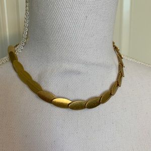 J CREW gold scale necklace